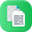 Copy And Paste Documents Text Icon