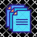 Document Contour Linear Icon