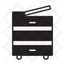 Copy Machine Fax Scanner Icon