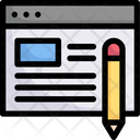 Copy Writing Content Writing Article Icon