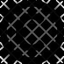 Copyright Letter C Icon
