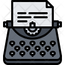Copywriter Writer Typewriter Icon