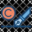 Copywriting Pen Copywrite Icon