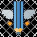 Copywriting Pencil Wings Write Icon