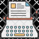 Copywriting Typewriter Output Device Icon