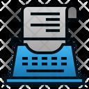 Copywriting Type Machine Text Icon