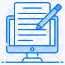 Article Writing Online Blog Content Writing Icon