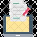 Copywriting Laptop Page Icon