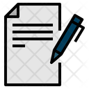Copywriting Paper Pen Seo Web Seo Web Icon