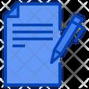Copywriting Paper Pen Icon