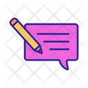 Copywriting Message Icon