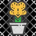 Coral Cactus Succulent Icon