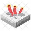 Coral Reef Rock Barrier Shoal Icon