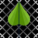 Cordate Greenery Leaf Icon