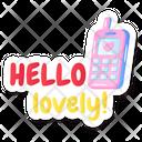 Walkie Talkie Cordless Phone Hello Lovely Icon