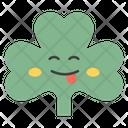 Tongue Out Coriander Coriander Face Emoticon Icon