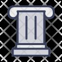 Corinthians Pillars Building Icon