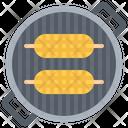 Corn Grill Barbecue Icon