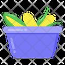 Maize Basket Corn Basket Corn Cob Basket Icon