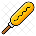 Corn Dog Organic Food Natural Diet Icon