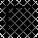Corner Arrow Pointer Icon