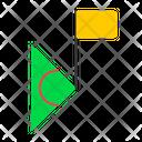 Corner Football Soccer Icon