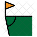Corner Football Field Soccer Sports Icon