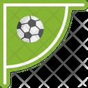 Corner Soccer Football Icon