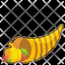 Cornucopia Fruit Abundance Horn Icon