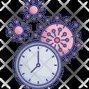 Corona Infection Time Corona Duration Coronavirus Period Icon