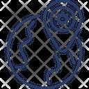 Corona virus Area Icon