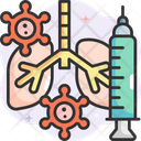 Corona Virus In Lungs Icon