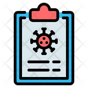 Corona Virus Report Icon