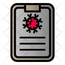Corona Virus Covid Document Icon
