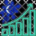 Coronaviruc Spread Graph Icon