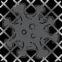 Coronavirus Virus Microorganism Covid Corona Pandemia Icon