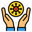 Hand Coronavirus Protection Icon