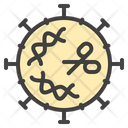 Coronavirus Cut Dna Icon