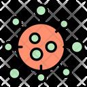 Covid Disease Bacteria Icon