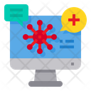 Coronavirus Positive Message Icon