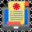 Laptop File Medical Icon
