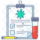 Lab Report Medical Report Coronavirus Report Icon