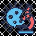 Coronavirus Microscope Virus Laboratory Icon