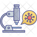Coronavirus Testing Microscope Corona Research Cell Icon