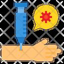 Vaccine Hand Syring Icon