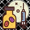 Coronavirus Vaccine Virus Injection Icon