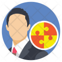 Businessman Cooperative Partner Icon