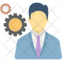 Corporation Leader Management Icon