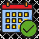 Correct Calendar Check Calendar Correct Icon