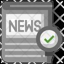 Correct News Check Correct Checking Icon